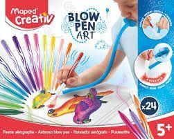 MAPED CREATIVE BLOW PEN ART (SOPLAR) 24 ROTULADORES