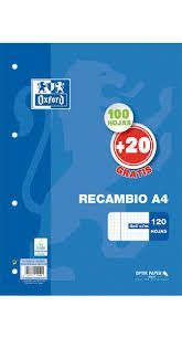 RECAMBIO A/4 4T 4X4 90GRS 100+20HJS OXFORD