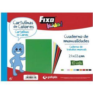 BLOC CARTULINAS COLORES (10) FIXO KIDS