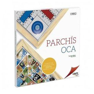 PARCHIS OCA 44X44 C/CRISTAL Y MARCO MADERA 4 JUGADORES CAYRO