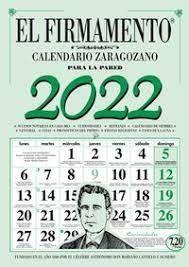 CALENDARIO ZARAGOZANO 2022 PARED EL FIRMAMENTO