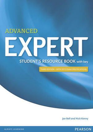 EXPERT ADVANCED 3RD EDITION STUDENT'S RESOURCE BOOK WITH KEY