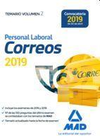 PERSONAL LABORAL (2019) CORREOS Y TELÉGRAFOS. TEMARIO VOL.2 (MAD)