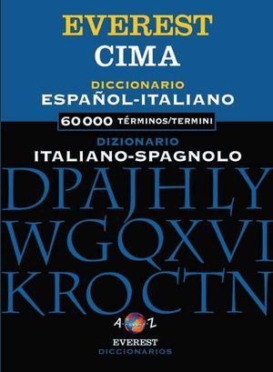 DICCIONARIO CIMA EVEREST ESPAÑOL-ITALIANO // DIZIONARIO CIMA EVEREST ITALIANO-SP