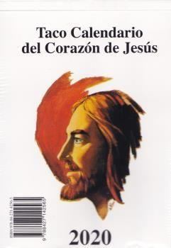 TACO CALENDARIO CORAZON DE JESUS PARED GRANDE 2020