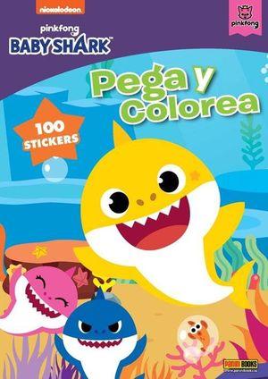 PEGA Y COLOREA BABY SHARK