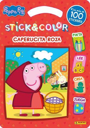 STICK & COLOR CAPERUCITA ROJA - PEPPA PIG