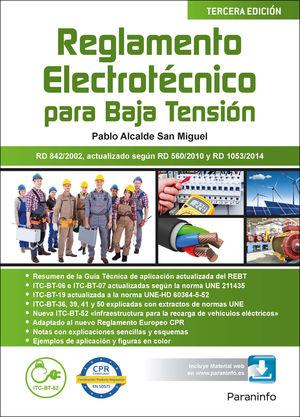 REGLAMENTO ELECTROTÉCNICO PARA BAJA TENSIÓN  3.ª EDICIÓN