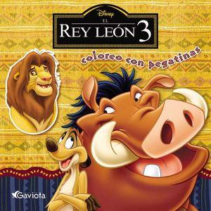 EL REY LEÓN 3. COLOREO CON PEGATINAS