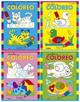 ESCRIBO Y COLOREO (4 TÍTULOS)