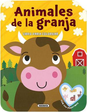 ANIMALES DE LA GRANJA. LIBRO PARA COLOREAR +100 PEGATINAS
