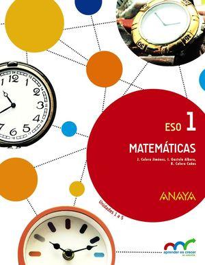 MATEMÁTICAS 1ºESO APRENDER ES CRECER EN CONEXIÓN (ANAYA)