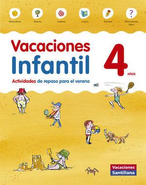 VACACIONES 4AÑOS. ACTIVIDADES DE REPASO PARA EL VERANO (SANTILLANA)