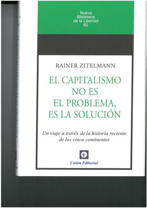 CAPITALISMO NO ES EL PROBLEMA, ES LA SOLUCION.