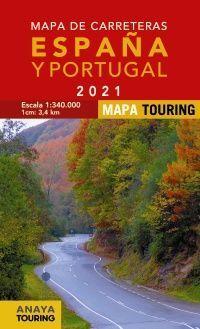 MAPA CARRETERAS (2021) ESPAÑA Y PORTUGAL 1:340.000