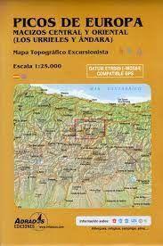 MAPA PICOS EUROPA. LOS URRIELES Y ANDARA (LARGA DURACIÓN)